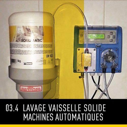 Lavage vaisselle solide machines automatiques