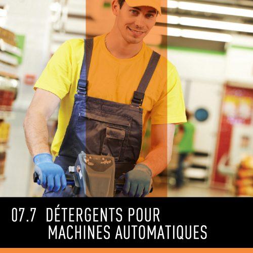 Détergents machines automatiques